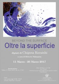 """ Oltre la superficie. Beyond the surface "", dipinti di Chigusa Kuraishi"